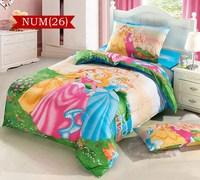 100% cotton snow princess cartoon bedding set girls bed linen baby kids children bed sheet set duvet cover set bedclothes#C30-5