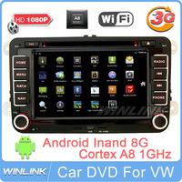 Russian free shipping 2013 New Android VW Golf Matogan Passat Polo Bora Tiguan Car DVD GPS Navigation with 512RAM Canbus 3G Wifi