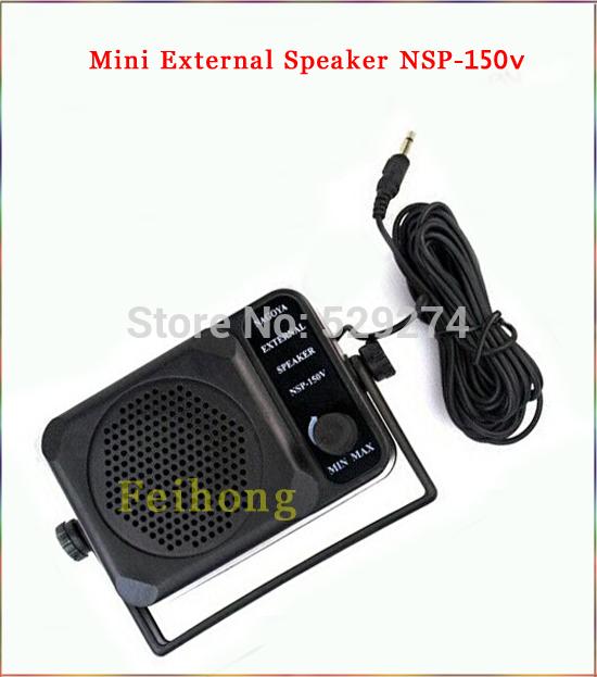Mini External Speaker NSP-150v ham For Kenwood Motorola ICOM Yaesu Walkie talkie two way CB Ham Radio(China (Mainland))