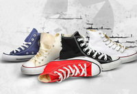 Free shipping 2014 Fashion hot selling flats sneakers canvas shoes for women and men big size (EUR 35-44)C01247