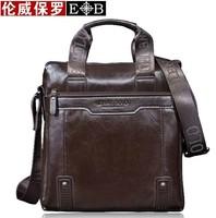 2014 Men Genuine Leather Handbags Man Brand Messenger Bag leather Shoulder Bag Laptop Bag Luxury IPAD Bag