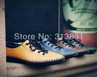 Fashion Men's Breathable Loafer Lace Up Leather Casual sneakers Espadrilles Moccasins Shoes Flats Driving Shoes US 6.5-10 SS28