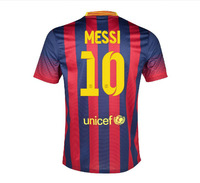 A+++ Thailand Quality 2014 New Messi Thai Player Version Soccer Shirt Sports Wear Football Jersey Wholesale Customize