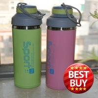 420ml Double Wall Stainless Steel Sports Water Tea Coffee Pot Drink Bottle Free Shipping -BY420 Availabe in 3 Colors