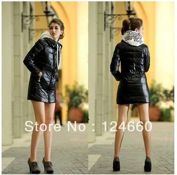The new 2013 women winter jacket fashion shiny long women's down jacket