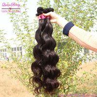 Queen brazilian sensational virgin remi goddess human sale hair  mix 3pcs  color 1b  virgin wave mac make up hair extension