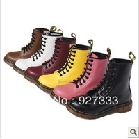 Dr . msbe genuine leather martin boots 8 Women cowhide boots plus cotton martin boots