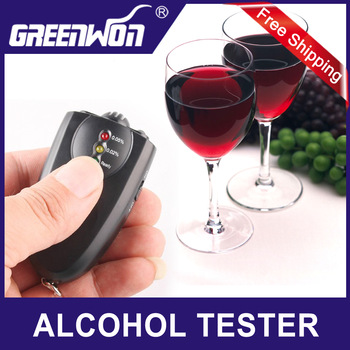 Free Shipping  factory supply mini alcohol testerAccurate Breath Alcohol Tester Breathalyzer with Flashlight led display