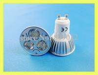 3W high power LED spotlight LED spot lamp 3W LED light bulb lamp LED lighting cup GU10 3W 240lm AC85-265V free shipping