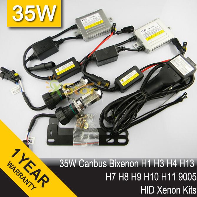 35W CANBUS 12V Bixenon H4 High/Low HID KIT Xenon Conversion Kits 3000K 4300K 5000K 8000K 12000K Puple Pink For Car Headlight(China (Mainland))