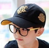 Children black Baseball Cap, Fashion boys sports cap, children sun hat,kids summer sun hat casual cap ,Unisex Hats & Caps