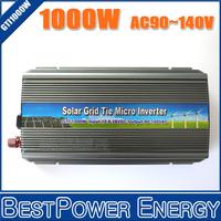 1000W Grid Tie Micro Solar Inverter, On Grid Inverter Pure Sine Wave 1KW 10.5-28V DC to AC 90-140V for 1250W 18V Solar Panel