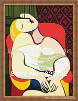 JIUJIU DIY digital oil painting Free shipping abstract painting unique gift canvas 30X40 Picasso-Dream paint by number