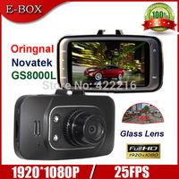 "Free Shipping Novatek GS8000L Car DVR Camera Full HD 1080P 140 Degree View Angle 2.7""LCD  G-Sensor Night Vision DVR Recorder"