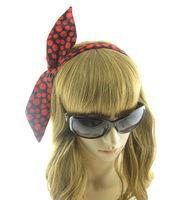 Red Circle dot Women's Hair Accessory Polytropic Rabbit Ear HeadBand For Girl