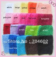 Wholesale Baby Elastic Tutu Tube Waffle Headbands 6 Inch Crochet Top headwears 15x15cm 80pcs/lot Freeshipping H015