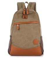 2015 NEW Brand Fashion Popular Korean Unisex Canvas Backpacks Vintage British Style College Rucksack For School Free Shipping