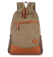 2014 NEW Brand Fashion Popular Korean Unisex Canvas Backpacks Vintage British Style College Rucksack For School Free Shipping