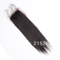 TOP QUALITY!! Lace Top closure Indian hair 4x4 STRAIGHT natural color Can be dyed