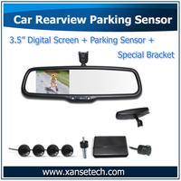 Car Parking Sensors Radar Detector 3.5inch Display Monitor with Reverse Radar and Camera