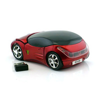 Red/Blue/Black Cool USB Car Style Wireless Mouse 800DPI Optical With USB Receive For PC/Laptop Fast Free Shipping