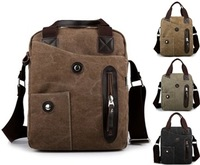 2013 new fashion Korean men's personality canvas bag portable shoulder Messenger bag wholesale, free shipping
