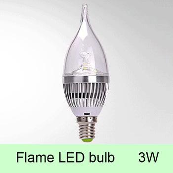 10pcs/Lot Flame Candle Shape High Power LED Light Bulb Light ,4W 280 Lumen Multi Color Cool/warm/Day light white ,E14 LED lamp