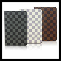 Free shipping Leather Case Tablet Leather Cover Case Gird Pattern For Samsung Galaxy P3100