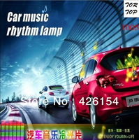 Free Shipping 70*16cm Car Sticker Music Rhythm LED EL Sheet Light Lamp Sound Music Activated Equalizer car Stickers