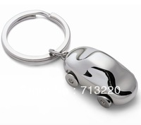 1pc sell Cute Mini Metal PHILIPPI Car key chain High-Class keychain with 4 wheeling tires Free Shipping