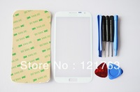 Freeshipping Newest White Color Digitizer Touch Outer Glass Lens Screen For Samsung Galaxy Note 2 II N7100 Replacement