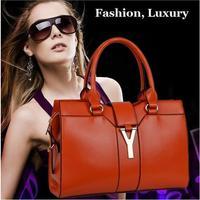 Prmotional 2014 New Guarantee 100% Geniune Leather Designer Satchel Handbags Tote Bags Purse for Women Free Shipping