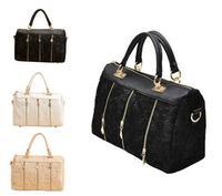 New Fashion Women's Lady Retro Lace Handbag PU Leather Designer Tote Cross body Shoulder Bag ,  Drop shipping MX77