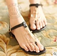 Hot Sales New 2014 Summer Shoes Flat Shoes Women Flip Flops Women Flats Anchor Sandals Fashion Free Shipping  Red Blue Black