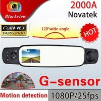 Newest 3.0 inch LCD Screen 2000A Rear View Mirror Camera FHD 1080P Car DVR Video Camera Motion Detection G-sensor