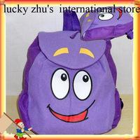 Dora the Explorer Plush Backpack Child PRE School Bag Toddler Size Shoulder bag, children purple bag, Big eyes happy New