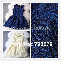 2014 Women's Dresses  Fashion Vintage elegant quality Embroidery Winter dress Blue