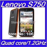 Free shipping Lenovo S750 phone MTK6589 Quad core Android 4.2 smartphone 4.5''QHD 8MP Dustproof  Waterproof 1GB RAM/ /Eva