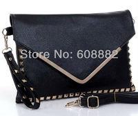Free shipping 2014 fashion handbag v envelope bag womens envelope clutch chain purse lady handbag #3001
