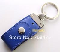 Blue Leather USB Drive Memory Flash Pendrive 1GB 2GB 4GB 8GB 16GB 32GB for Choices Good Quality