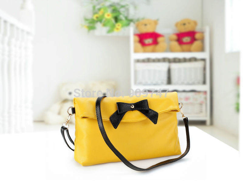 2014 butterfly one shoulder cross-body bags female new fashion bow women's pu leather handbags Messenger totes Bag free shipping(China (Mainland))