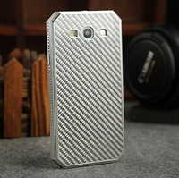 Luxury Carbon Fiber Grid No Screw design Aluminum Case For SAMSUNG GALAXY SIII S3 I9300 Metal Frame Black Silver Back Cover