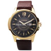 Fashion Casual Men CURREN Brand Wristwatches Japan Movement Quartz Watch Leather Strap Sport Watches With Calendar Male Clock