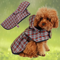 Pet Apparel Dog Clothes Dog Rain Coa Pet Jacket Reflective Rain Pet Waterproof Coat S/M/L/XL