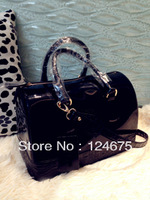 New 2013 Crocodile Pattern Candy Color Transparent Jelly Totes With One Leather Shoulder Strap,Bolsas/Bolsa Bauletto Satchel Bag