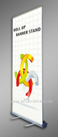New! Aluminum Lightweight Roll up banner stand, Retractable banner stand/Easy Graphic change+printing