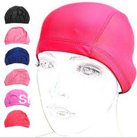 swimming caps High-grade lycra swimming cloth  bathing cap  high-grade paper backing board packaging pure color caps 734007