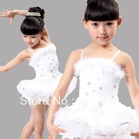 2014 Spring New Children Girls Princess Ballet Dress Dancing Skirt Tutu Dress Performance Wear Kids Paillette Blingbling Costume