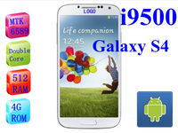 Free shipping New arrival original 1:1 Galaxy I9500 i9505 s4 phone MTK 6589 quad core android 4.21 CPU 1.2G MHZ RAM 1GB ROM 8GB