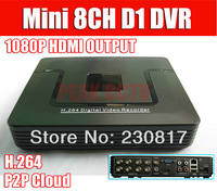 8CH Full D1 CCTV DVR Recorder with HDMI P2P Cloud Tech Easy Remote Network View Mobile Phone View